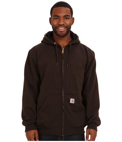 Carhartt - RD Rutland Thrml Lnd Hdd Zfnt Sweatshirt (Dark Brown) Men's Sweatshirt