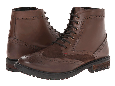 Ben Sherman - Sanford - Brogue Toe Boot (Dark Brown) Men's Boots