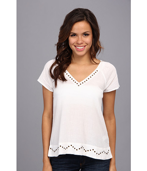 Lucky Brand - Grommet Shirt (Lucky White) Women's T Shirt
