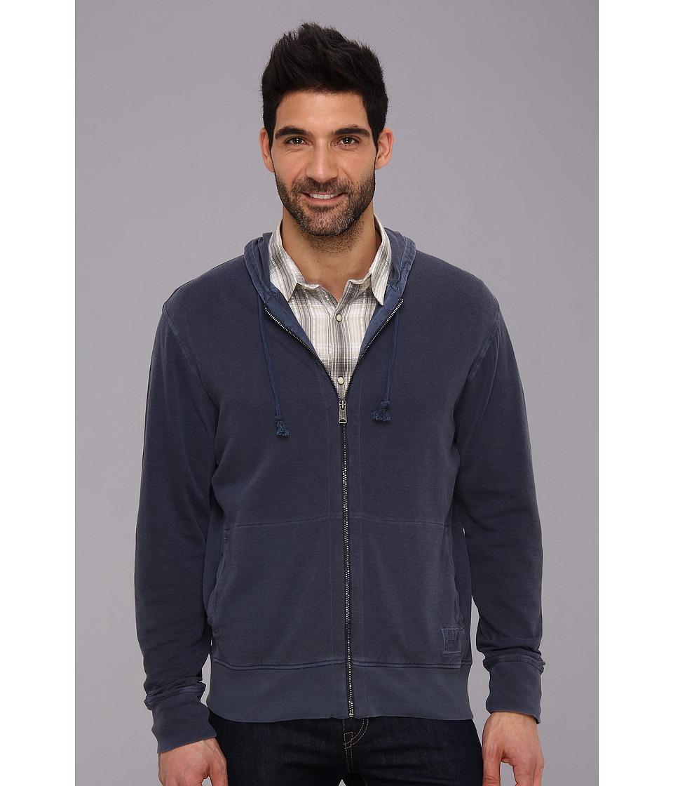 Lucky Brand Duofold Hoodie Sweatshirt Mens Sweatshirt (Navy)