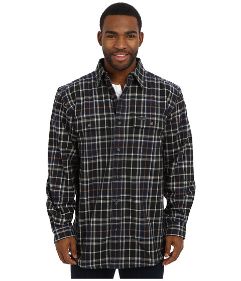 Carhartt - RD Youngstown Flannel Shirt Jacket (Navy) Men's Coat