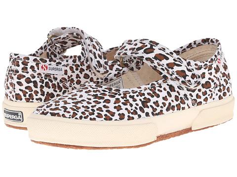 Superga Kids - 2750 LEOCOTJ (Infant/Toddler/Little Kid/Big Kid) (Off White/Brown) Girl's Shoes