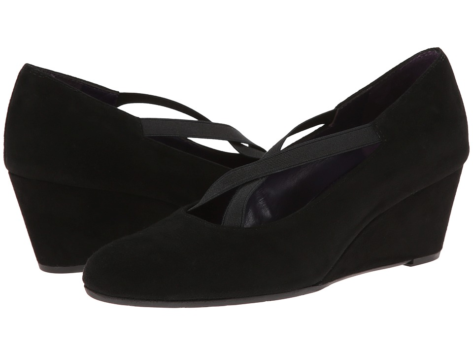 Vaneli - Trypsy (Black Suede/Elastic) Women's Wedge Shoes