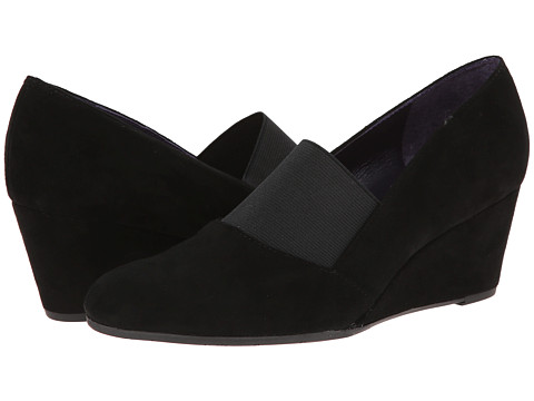Vaneli - Trilby (Black Suede/Elastic) Women's Wedge Shoes