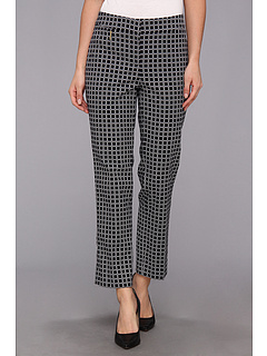 SALE! $29.99 - Save $69 on Anne Klein Tile Print Slim Pant (Midnight Multi) Apparel - 69.71% OFF $99.00