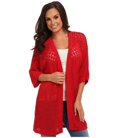 Lucky Brand - Mixed Stitch Sweater (Red Multi) Women's Sweater