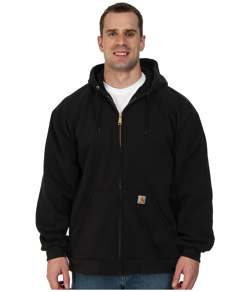 Carhartt - Big Tall Rain Defender Rutland Thermal Lined Hooded Zip Front Sweatshirt (Black) Men's Sweatshirt