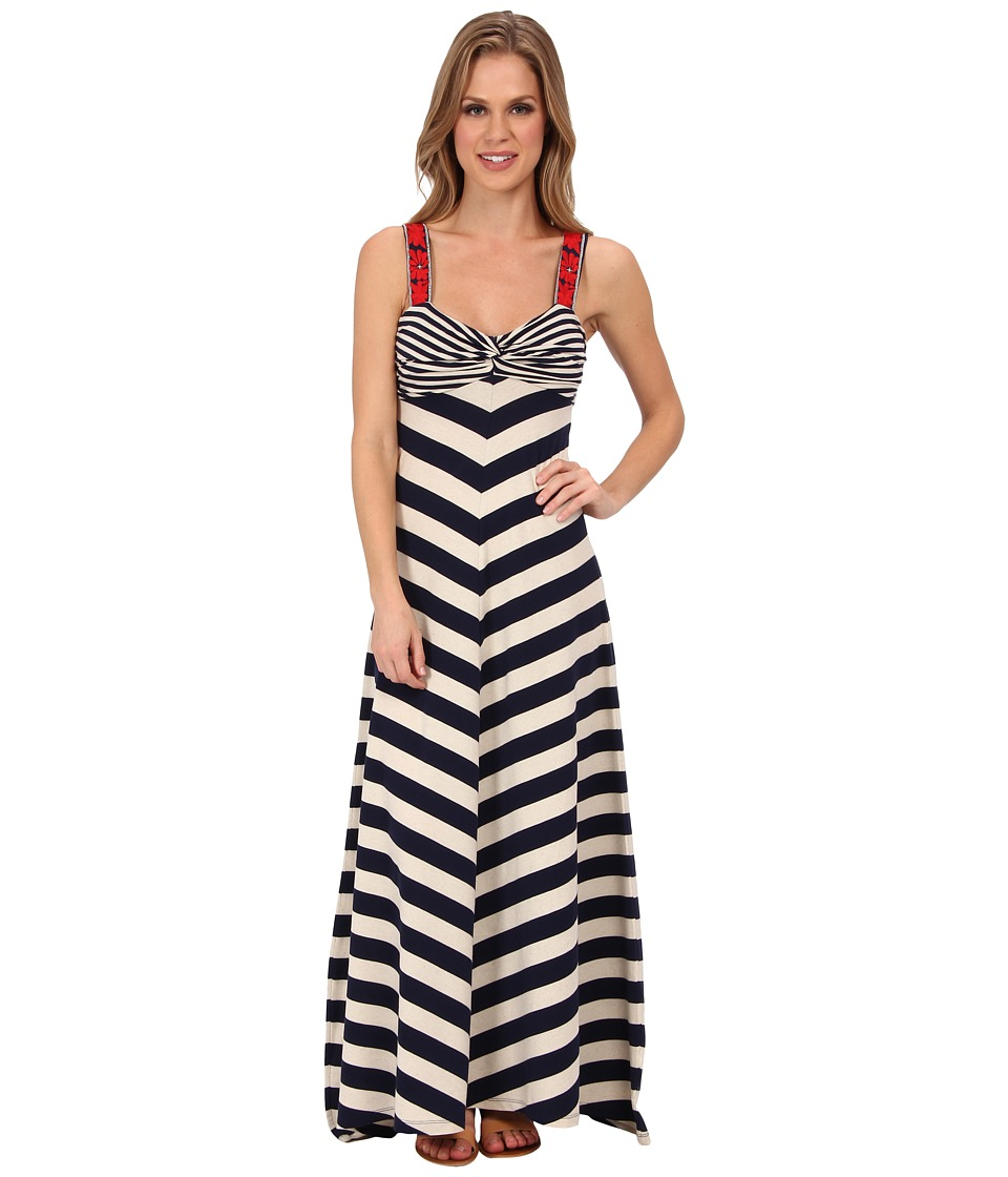 Lucky Brand - Stripe Maxi Dress (Navy/White) Women's Dress