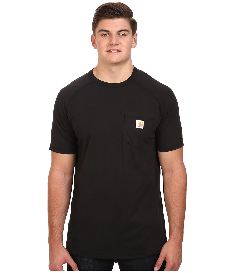 Carhartt - Big Tall Force Cotton S/S T-Shirt (Black) Men's T Shirt
