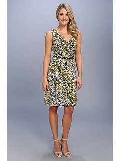 SALE! $26.99 - Save $72 on Anne Klein Pebble Stripe Belted Dress (Taxi Multi) Apparel - 72.74% OFF $99.00