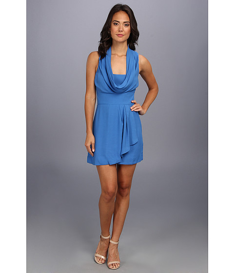 French Connection - Ziona Crepe (Balm Blue) Women's Dress