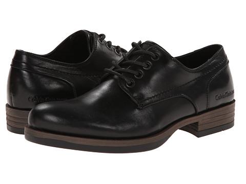 Calvin Klein Jeans - Raine (Black Leather) Men's Lace up casual Shoes