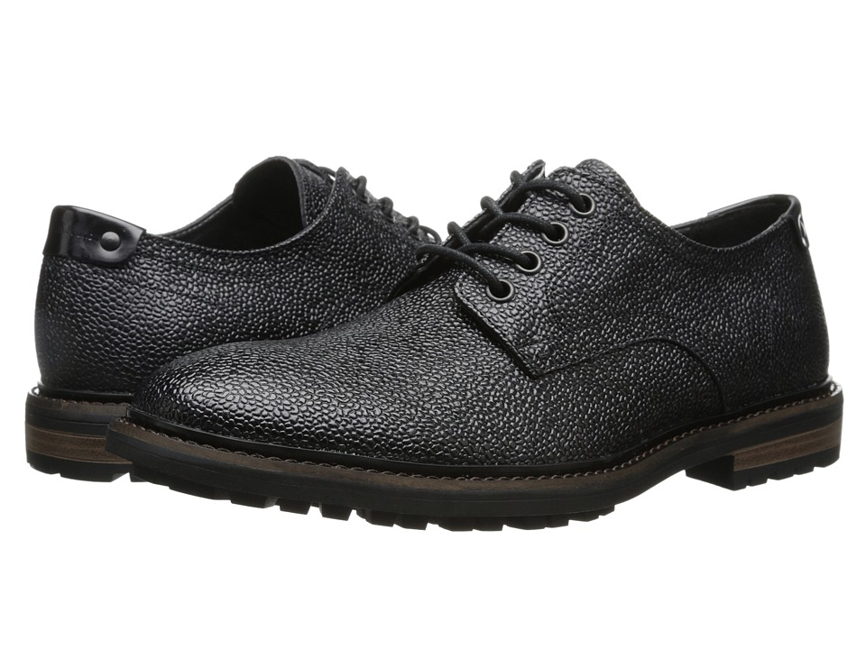 Calvin Klein Jeans - Talman (Black Textured Leather) Men's Lace up casual Shoes