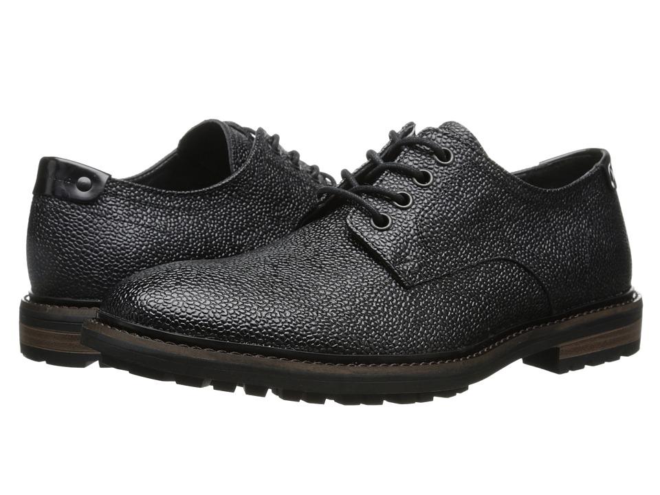 Calvin Klein Jeans - Talman (Black Textured Leather) Men's Lace up casual Shoes