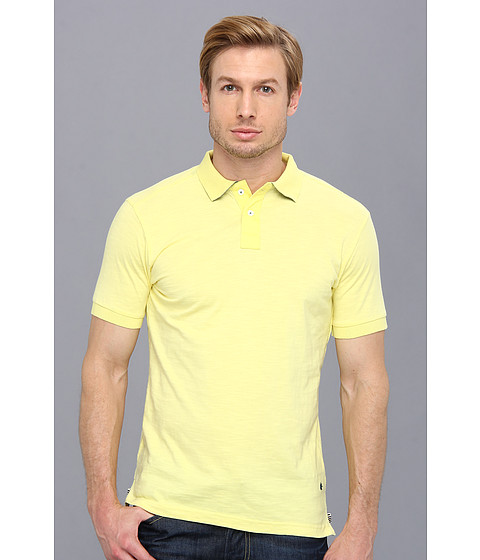 Descendant Of Thieves - Slub Fabric Polo Shirt (Yellow) Men