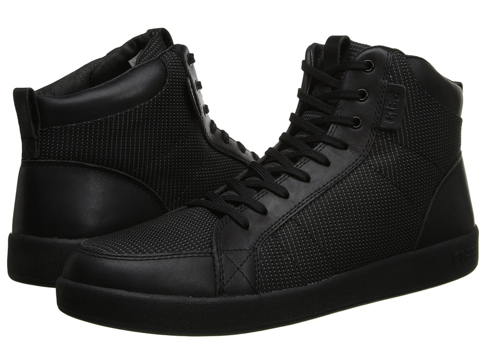 Clae - Russell (Black Leather Nylon Canvas) Men