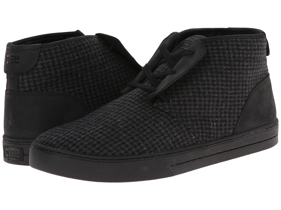 Clae - McQueen (Black Nubuck Wool) Men
