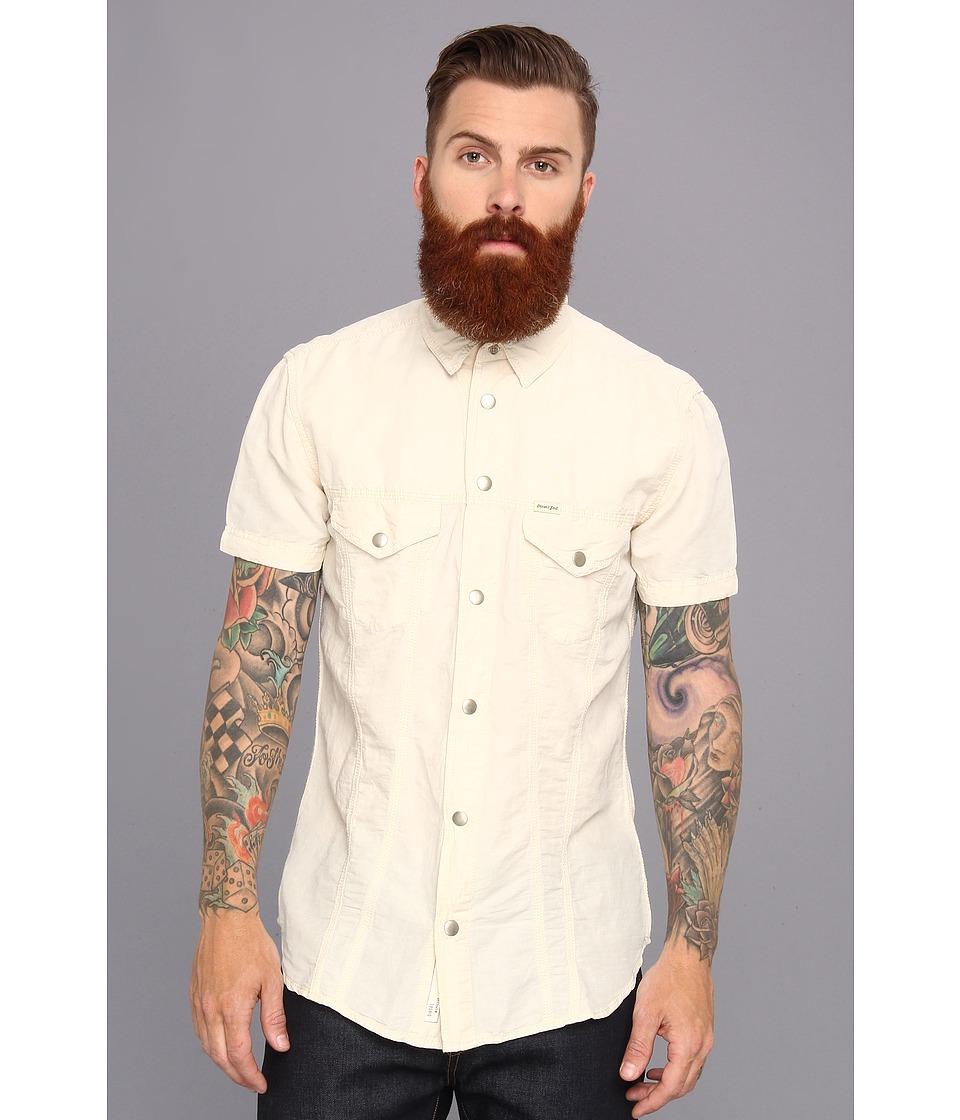 Diesel - Stulip-Sho Shirt (Pale/Grey) Men's Short Sleeve Button Up