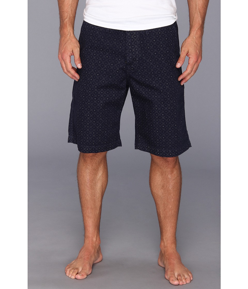 Lucky Brand - Printed Flat Front Short (Navy Print) Men's Shorts