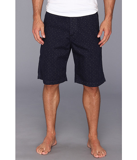 Lucky Brand - Printed Flat Front Short (Navy Print) Men