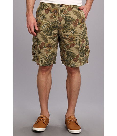 Lucky Brand - Floral Linen Cargo Short (#130 Natural) Men
