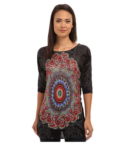 Desigual - Mariland Short Sleeve Pullover (Black) Women's Short Sleeve Pullover