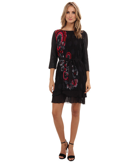 Desigual - C lice Woven Dress Long Sleeve (Black) Women