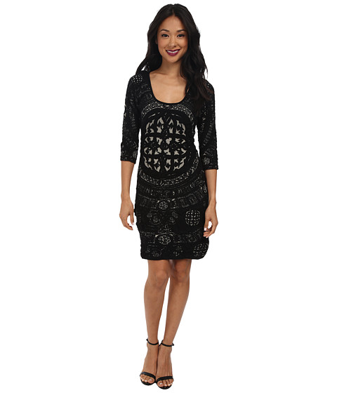 Desigual - Leyre Flat Knitted Dress Long Sleeve (Black) Women's Dress
