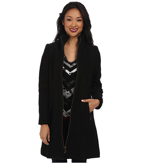 Desigual - Camile Woven Overcoat (Black) Women