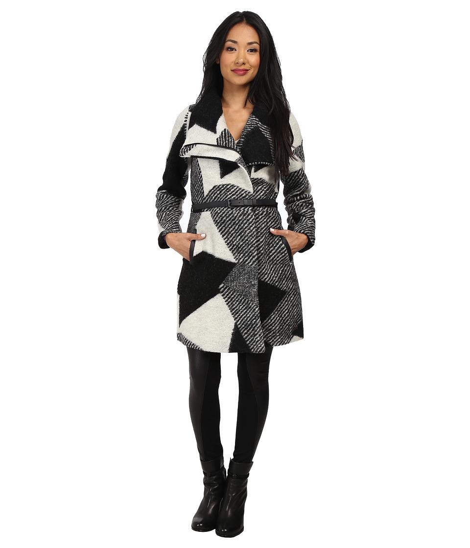 Desigual - Sidney Woven Overcoat Long Sleeve (Grey) Women's Coat