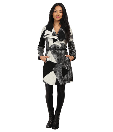 Desigual - Sidney Woven Overcoat Long Sleeve (Grey) Women