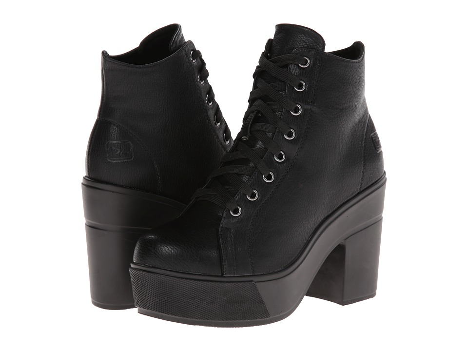 Dirty Laundry - Campus Queen (Black) Women's Lace-up Boots