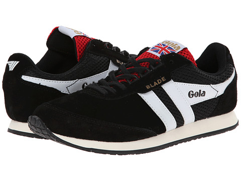 Gola - Blade Suede (Black/White/Red) Men's Shoes