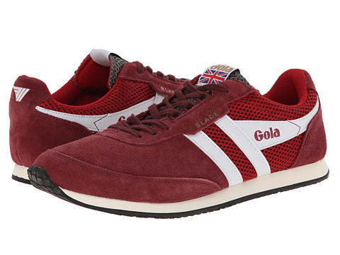 Gola - Blade Suede (Burgundy/White/Grey) Men's Shoes