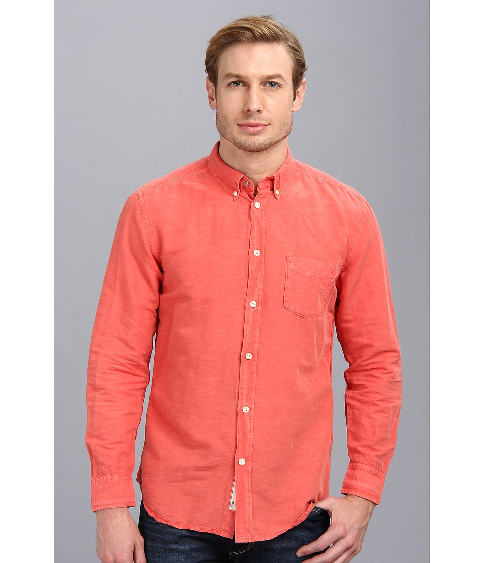 Diesel - S-Ambre Shirt (Coral) Men's Long Sleeve Button Up