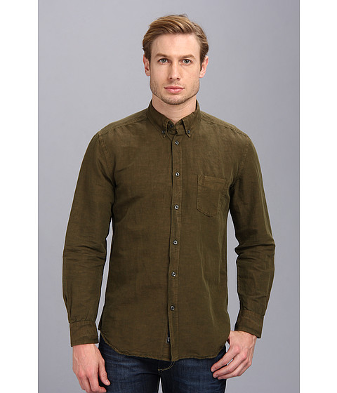 Diesel - S-Ambre Shirt (Olive/Green) Men's Long Sleeve Button Up