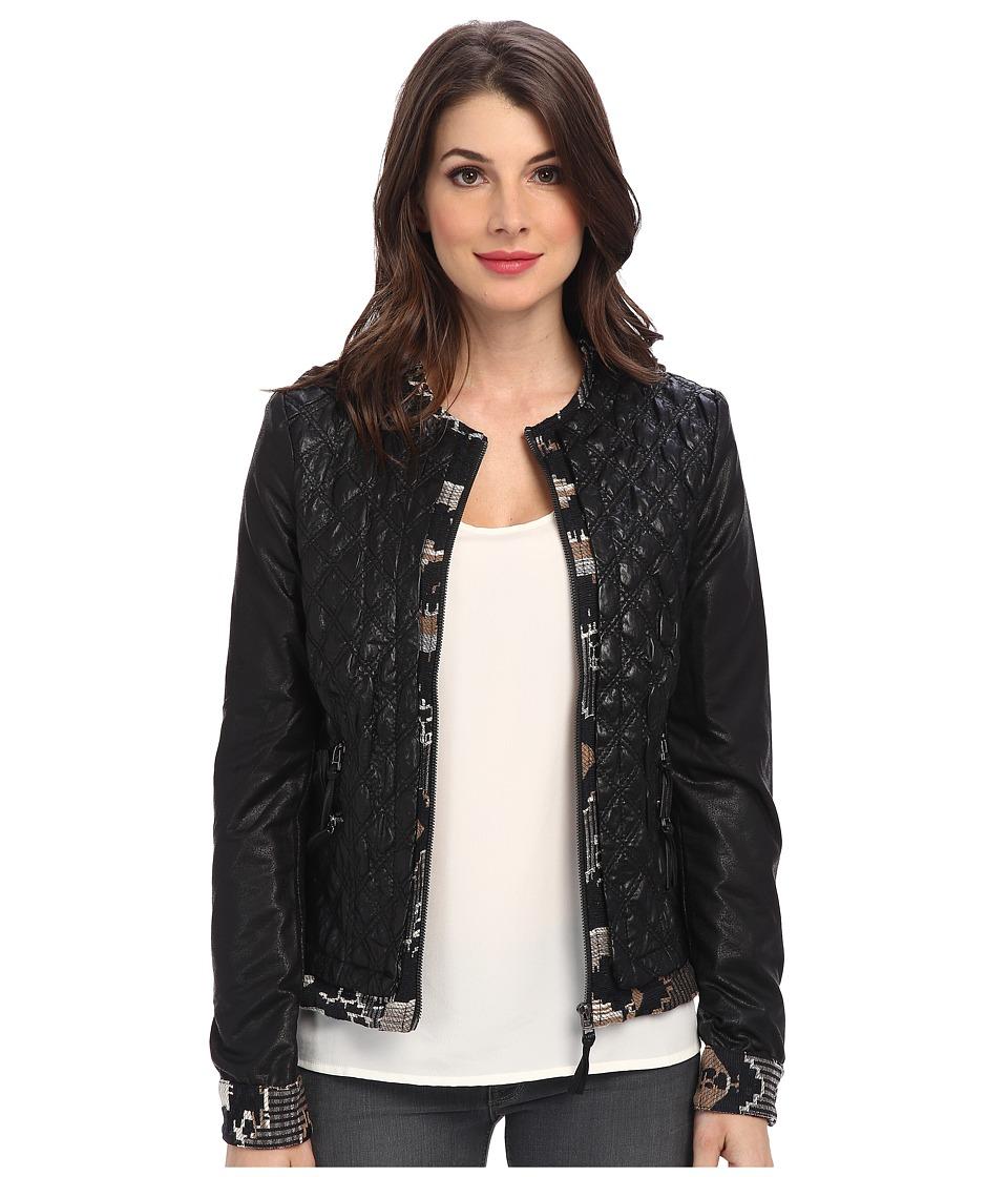 Desigual - Lisboa Woven Overcoat Jacket (Black) Women's Coat