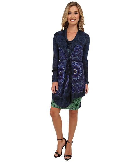 Desigual - Marioti Pullover Jacket Long Sleeve (Navy) Women's Sweater