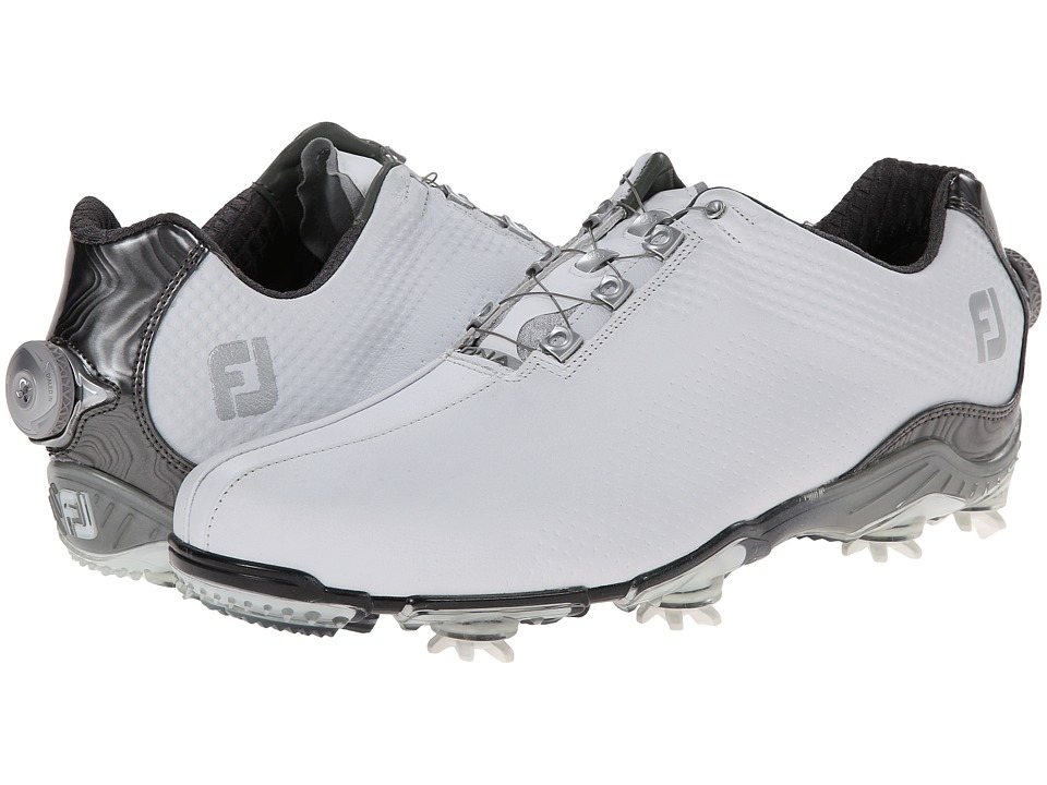 FootJoy - DNA BOA (White/Grey) Men's Golf Shoes