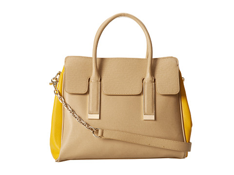 Ivanka Trump Amanda Satchel (Sand) Satchel Handbags