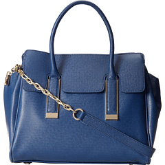 Ivanka Trump Amanda Satchel (Navy) Satchel Handbags
