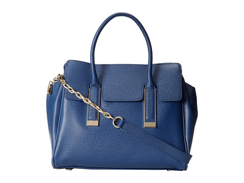Ivanka Trump Amanda Satchel (Navy) Satchel Handbags
