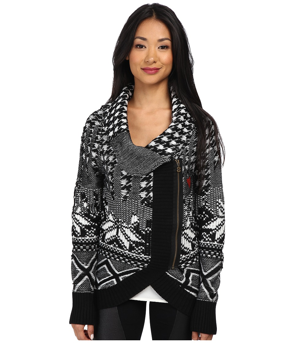 Desigual - Susana Flat Knitted Pullover Long Sleeve (Black) Women's Coat