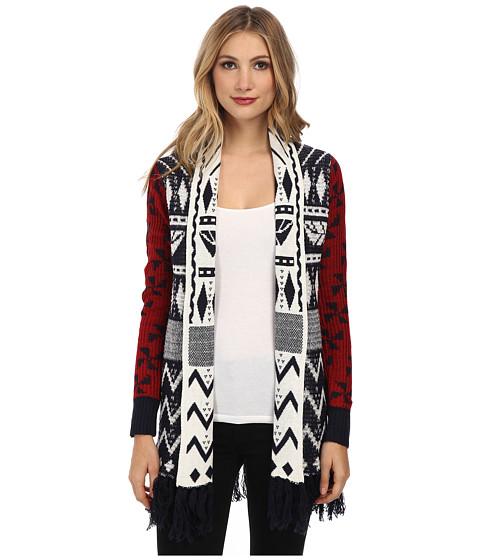 Desigual - Marino Flat Knitted Pullover Long Sleeve (Navy) Women's Sweatshirt