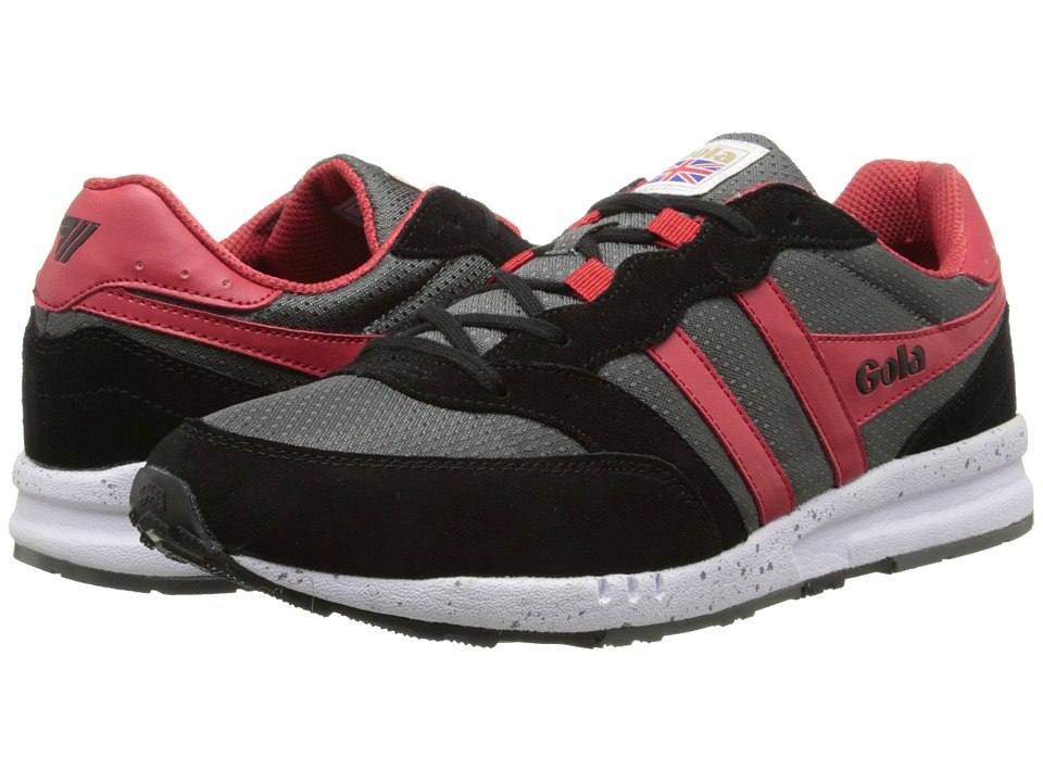 Gola - Samurai (Grey/Black/Red) Men's Lace up casual Shoes