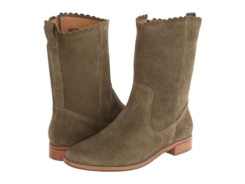 Jack Rogers - Carly Suede (Olive Suede) Women's Pull-on Boots