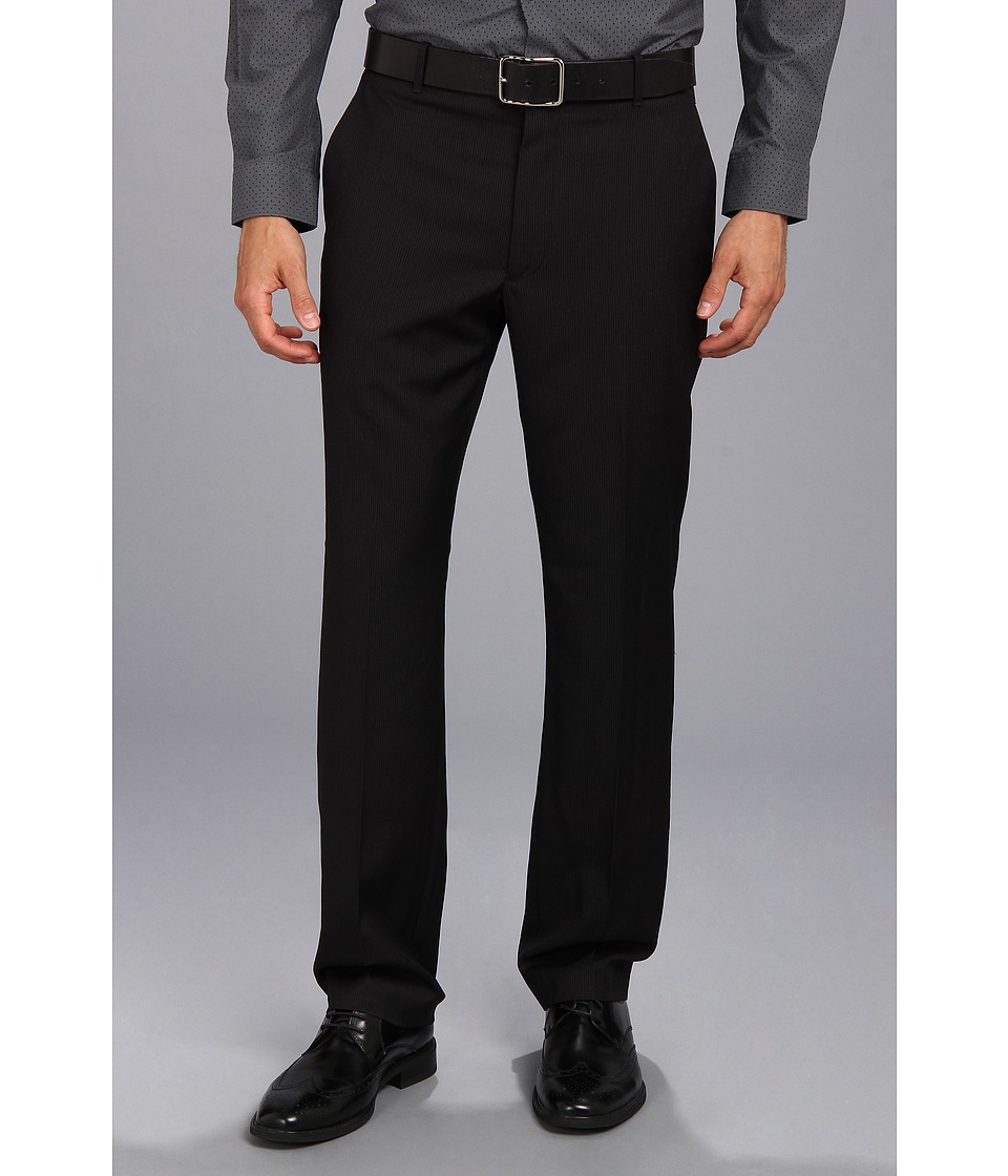 Perry Ellis Portfolio - Modern Fit Travel Luxe Dress Pant (Black Ice) Men's Dress Pants