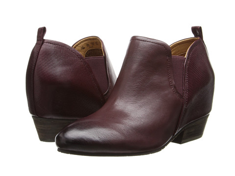 Naya - Felix Hidden Wedge Boot (Classic Cordovan Leather/Embossed Leather) Women's 1-2 inch heel Shoes