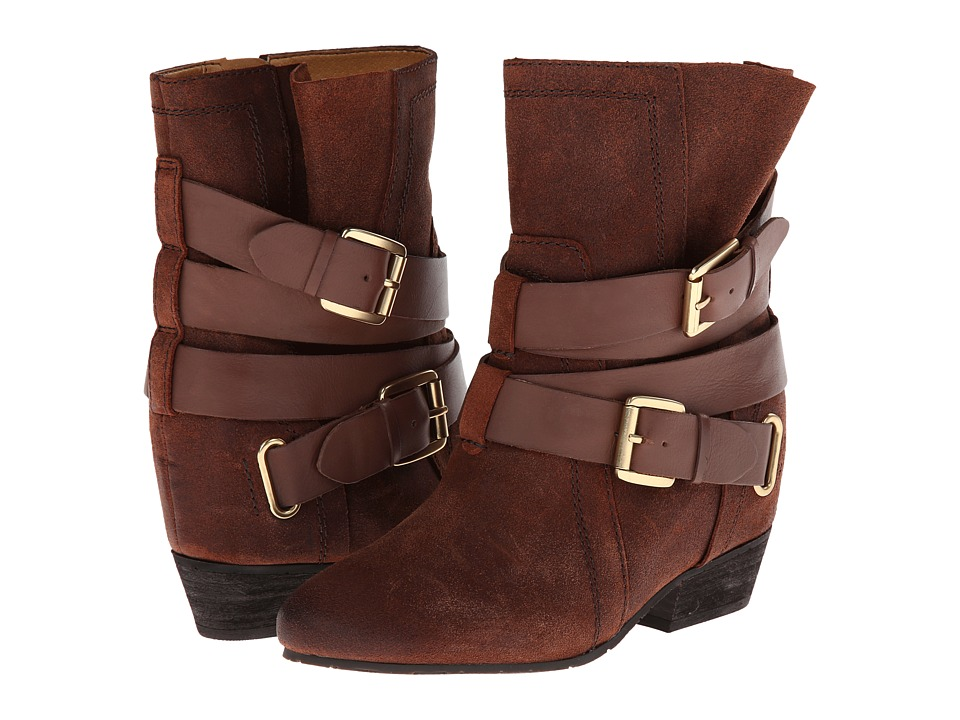 Naya Fisher Hidden Wedge Boot (Bridal Brown Oiled Suede/Leather) Women