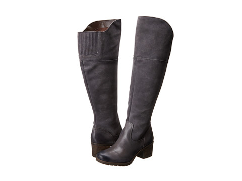 Naya - North Wide Shaft (Graphite Lead Wide Shaft Leather/Oiled Suede) Women's Pull-on Boots